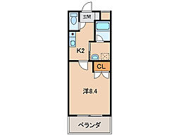ル・マンA3番館[3階]の間取り