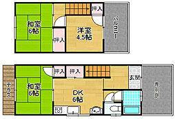 [テラスハウス] 大阪府枚方市養父東町 の賃貸【/】の間取り