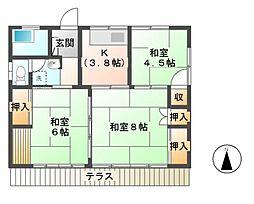 [一戸建] 長野県長野市大字下駒沢 の賃貸【/】の間取り