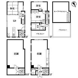 東京メトロ千代田線 赤坂駅 徒歩7分の賃貸一戸建て 3SLDKの間取り