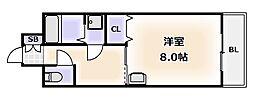 大阪府大阪市浪速区桜川2丁目の賃貸マンションの間取り