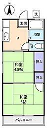 第1小野田ハイツ[2階]の間取り