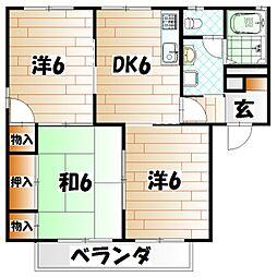 ディアスソレイユ A棟[1階]の間取り