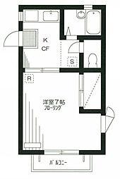 シャトル東蒲田[2階]の間取り