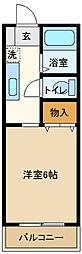 埼玉県越谷市大字弥十郎の賃貸アパートの間取り