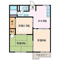 ファミール新道[2階]の間取り