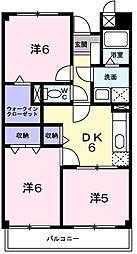 ビサイド大蔵谷[3階]の間取り