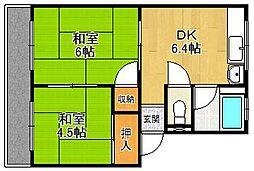 松福マンション1号棟[102号室]の間取り