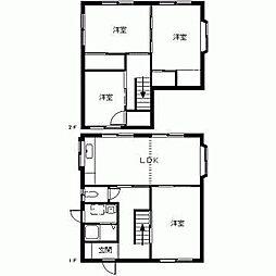 [一戸建] 鳥取県米子市米原9丁目 の賃貸【/】の間取り