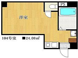 シンエイ第8東船橋マンション[2階]の間取り