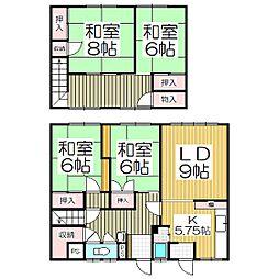 [一戸建] 北海道室蘭市港南町1丁目 の賃貸【北海道 / 室蘭市】の間取り