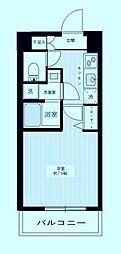 MAXIV武蔵新城 2階1Kの間取り