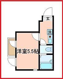 東京都足立区千住河原町の賃貸アパートの間取り