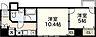 間取り,2K,面積41.35m2,賃料8.0万円,広島電鉄3系統 市役所前駅 徒歩6分,広島電鉄3系統 鷹野橋駅 徒歩6分,広島県広島市中区大手町4丁目