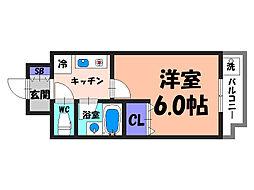 大阪府堺市堺区北庄町3丁の賃貸マンションの間取り