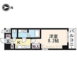 JR東海道・山陽本線 京都駅 徒歩11分の賃貸マンション 1階1Kの間取り