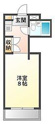 ハイツ冨久井I[4階]の間取り