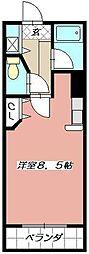 ウイングビル[504号室]の間取り