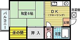 ヤングハイツ三郎丸[1階]の間取り