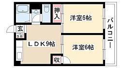 愛知県名古屋市瑞穂区汐路町4丁目の賃貸マンションの間取り