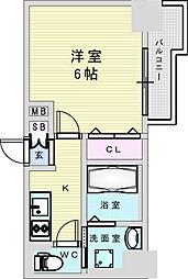 Osaka Metro御堂筋線 新大阪駅 徒歩8分の賃貸マンション 6階1Kの間取り