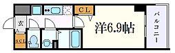 プレサンス東別院駅前II 2階1Kの間取り