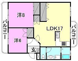 レジデンス持田[301 号室号室]の間取り