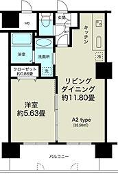 ノルデンタワー新大阪プレミアム[19階]の間取り