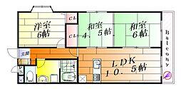 ボヌゥール壱番館[1階]の間取り
