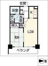 錦ハーモニービル[7階]の間取り