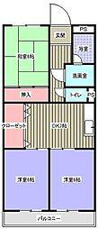 ハイツみやび(福元町)[1階]の間取り