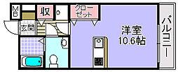 エスタシオン高石[302号室]の間取り