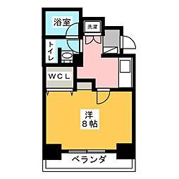 SJ Sakurayama 3階1Kの間取り