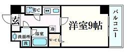 ラ・ビィNAKAZEN 2階1Kの間取り