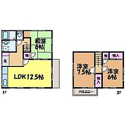 [一戸建] 愛媛県松山市三町2丁目 の賃貸【/】の間取り