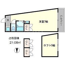 キャッスル21[3階]の間取り