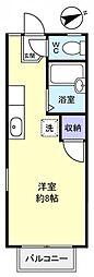 クレセント薬円台[2階]の間取り