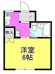 第5齋藤ビル[202号室]の間取り