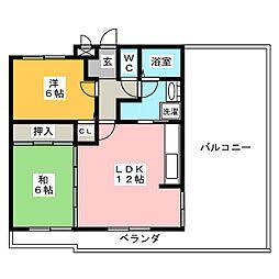Vento21[3階]の間取り