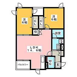 仮称 宮田マンション[3階]の間取り