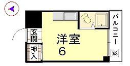 カーサ船岡山[104号室]の間取り