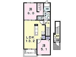 アネサキ 3 2階2LDKの間取り