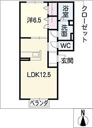 プティローズ新栄I[3階]の間取り