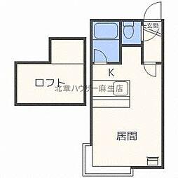 北海道札幌市北区北三十条西8丁目の賃貸アパートの間取り
