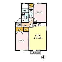 さくらハイツA[2階]の間取り