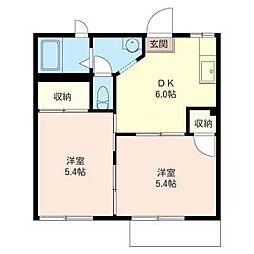 コ−ポ三起II[1階]の間取り