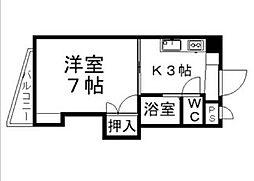 愛媛県松山市東石井4丁目の賃貸マンションの間取り