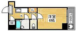 ロマネスク京都丹波口[203号室号室]の間取り
