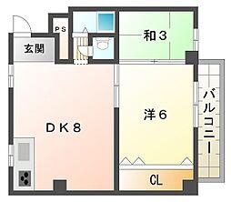 大晃マンションI[2階]の間取り