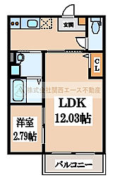 CASA VIVACE 北野田(カーサ ヴィヴァーチェキタノダ)[3階]の間取り